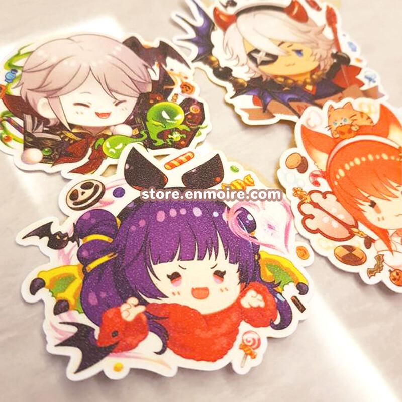 EmblemCon Halloween Glitter Stickers