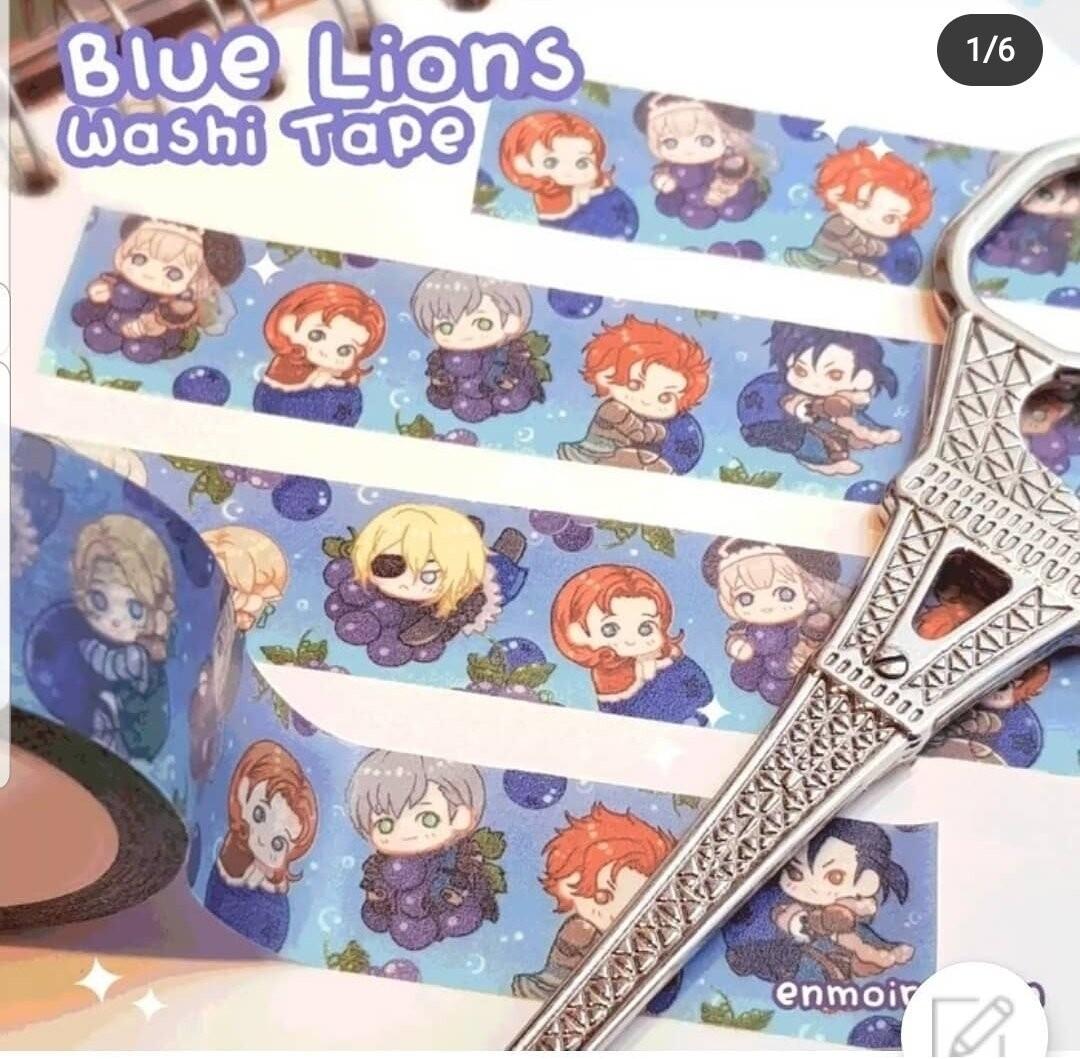 Blue Lions Ramune Washi Tape