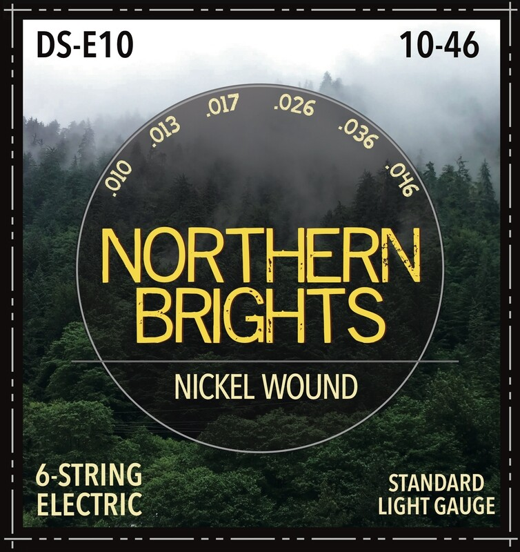 Northern Brights DS-E10  |  Nickel-Wound Premium Electric Guitar Strings |  10-46