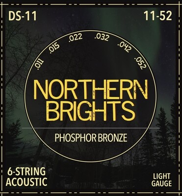 Northern Brights DS-11 | Phosphor Bronze Acoustic Guitar Strings | 11-52