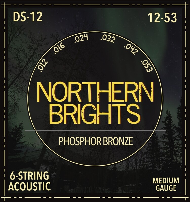 Northern Brights DS-12  | Phosphor Bronze Acoustic Guitar Strings | 12-53