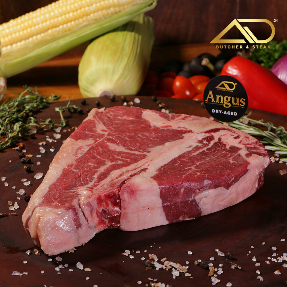 810gm Dry Aged Australian Premium Angus MB2 T-Bone