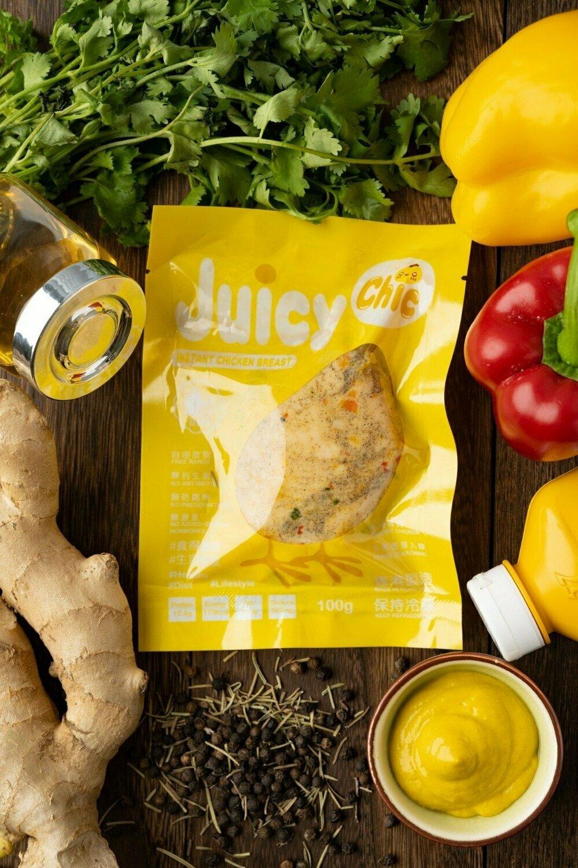 Juicy Chic 即食無激素雞胸 - 芥末味 Instant Hormone Free Chicken Breast - Mustard 100g