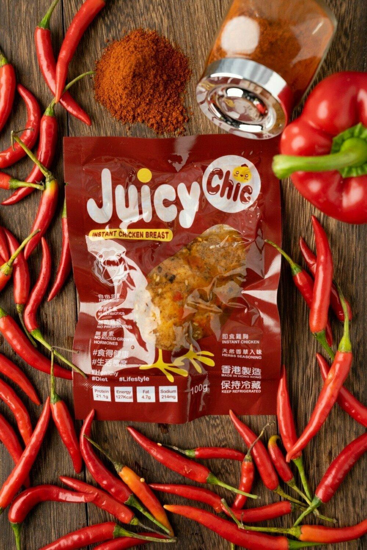 Juicy Chic 即食無激素雞胸 - 麻辣味 Instant Hormone Free Chicken Breast - Spicy 100g