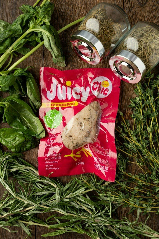 Juicy Chic 即食無激素雞胸 - 香草味 Instant Hormone Free Chicken Breast - Herbs 100g