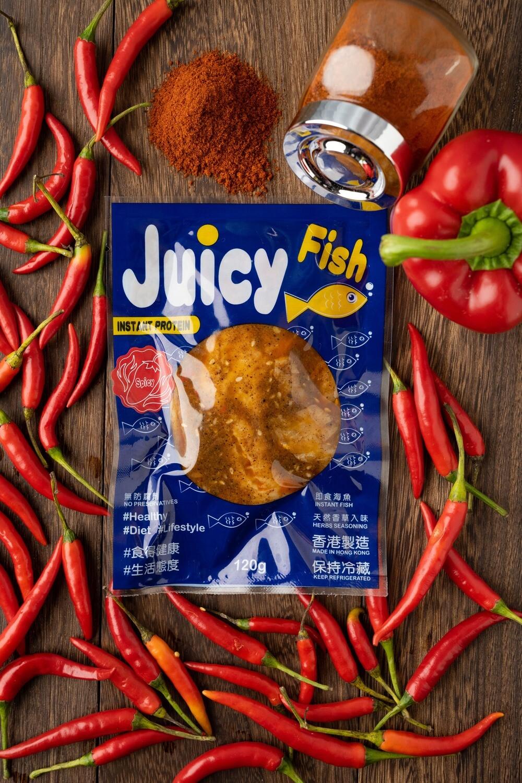 Juicy Fish 即食無激素魚柳 - 麻辣味 Instant Hormone Free Fish Fillet - Spicy 120g
