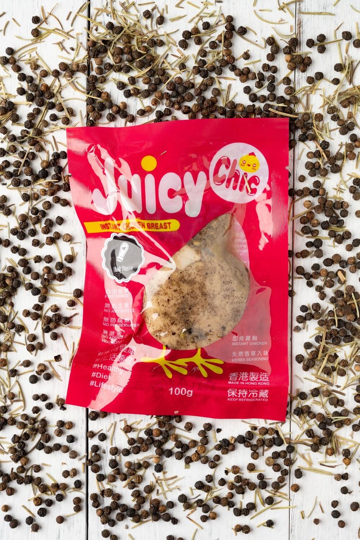 Juicy Chic 即食無激素雞胸 - 黑椒味 Instant Hormone Free Chicken Breast - Black Pepper 100g