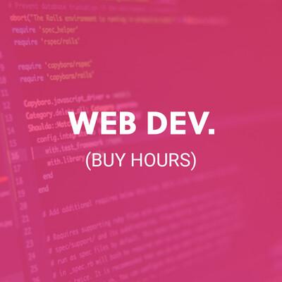 WEB DEV. (BUY HOURS)