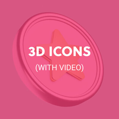 3D ICONS (WITH VIDEO)
