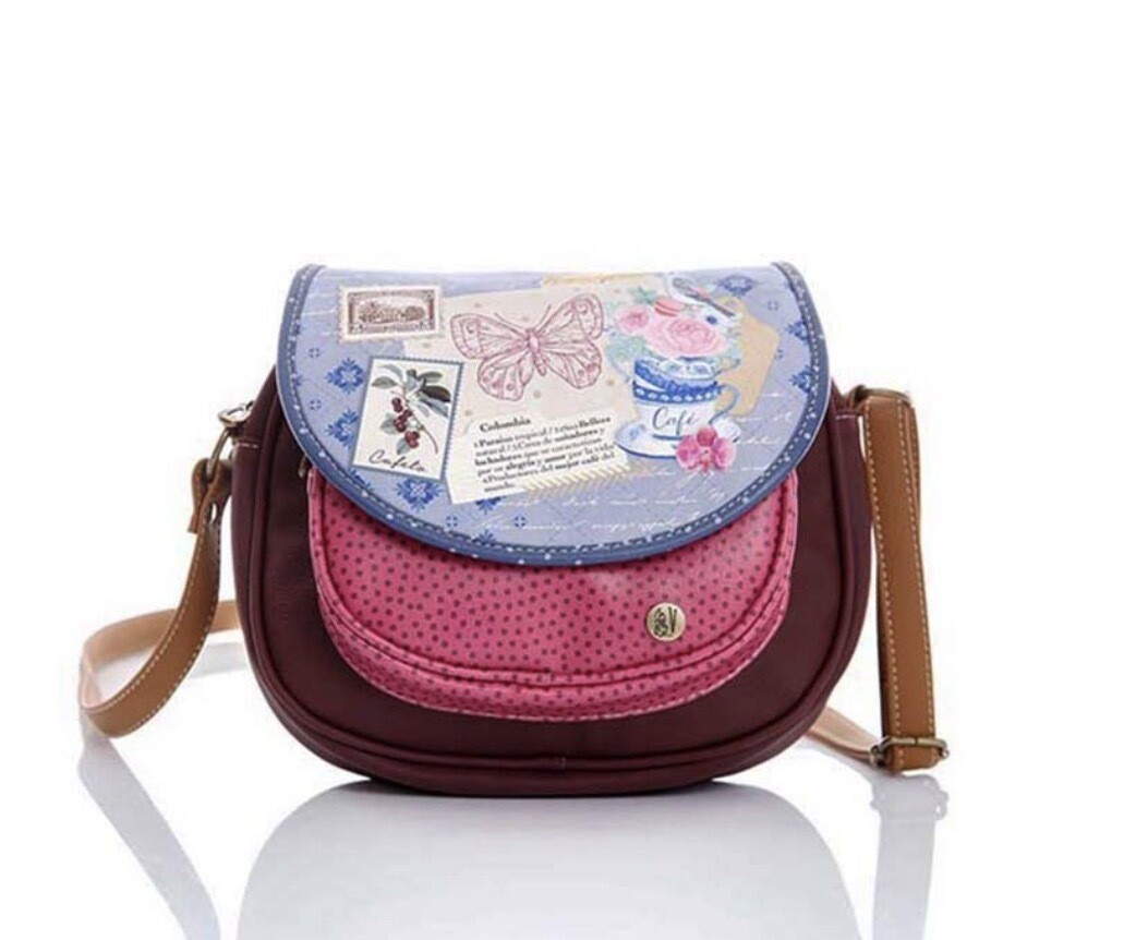 Crossbody Carriel Wine Aroma Colombia