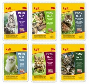 Katzenfutter: Kyli Menü Nr. 2, 3, 4, 5, 6 & 8 Mischkarton (12 x 100g)