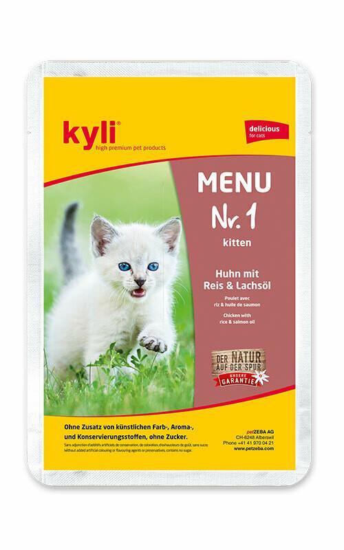 Katzenfutter: Kyli Menü Nr. 1 (12 x 100g)