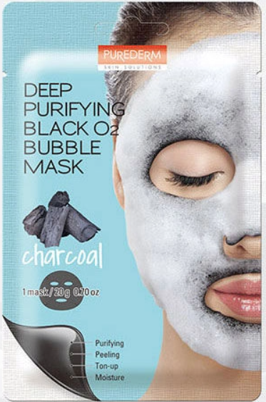 Purederm | Deep Purifying Black Bubble Mask Charcoal
