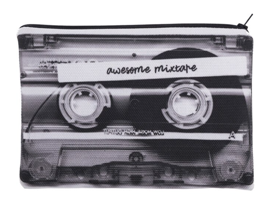 MIXTAPE Cassette Cosmetic Bag