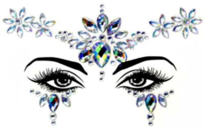 Face Decal Sticker - Crystal