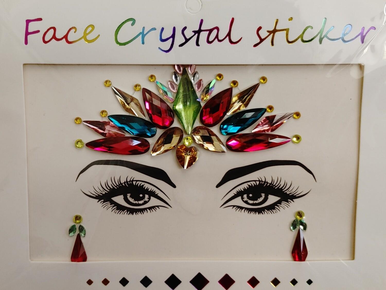 Face Decal Sticker  - Rainbow