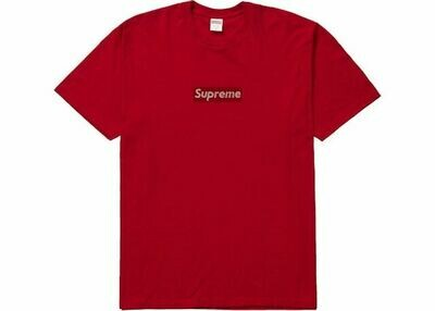 Supreme Swarovski Box Logo Tee Red