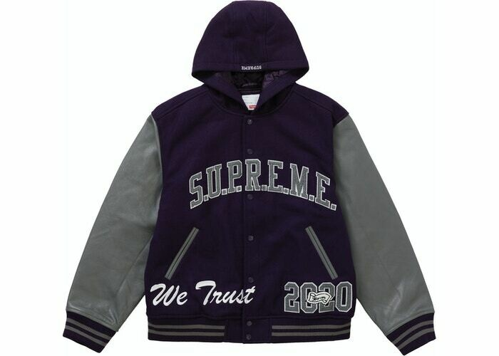 Supreme King Hooded Varsity Jacket