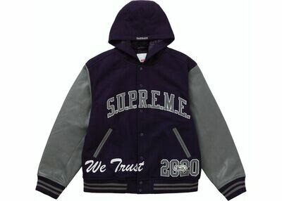 Supreme King Hooded Varsity Jacket