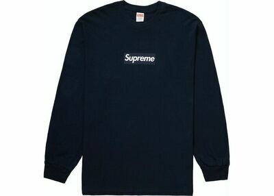 Supreme Box Logo Navy L/S Tee