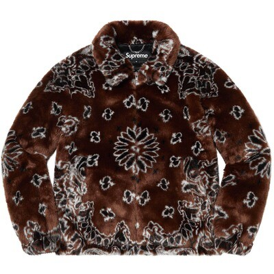 Supreme Bandana Faux Fur Bomber Jacket