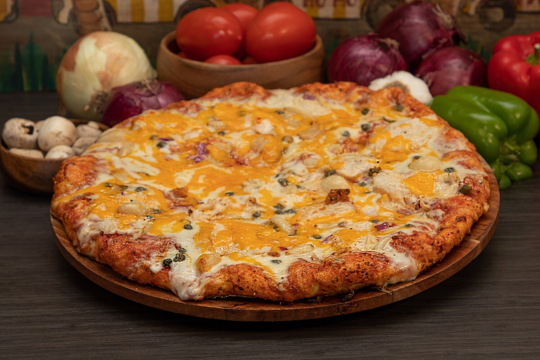 ROASTED GARLIC & CHICKEN PIZZA - LARGE