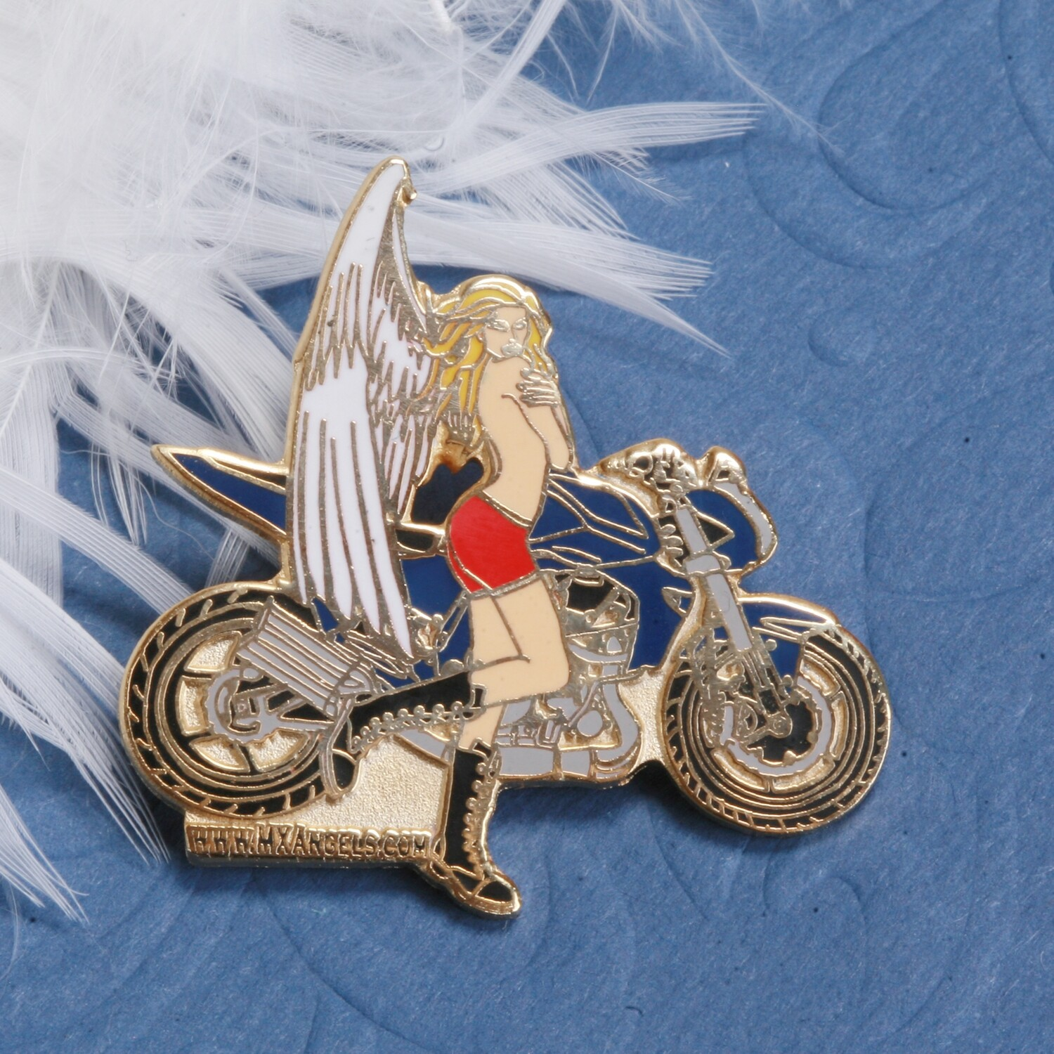 Faith The Guardian Motorcycle Angel  Pin