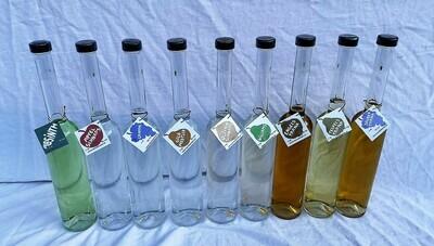 2dl-Flasche gefüllt mit Schnaps nach Wahl