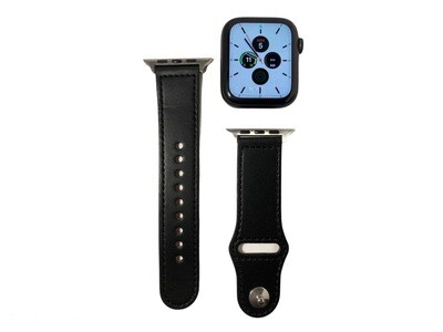 Apple Watch Leather Band [Black]