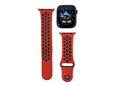 Apple Watch Silicone Band [Red/Black]