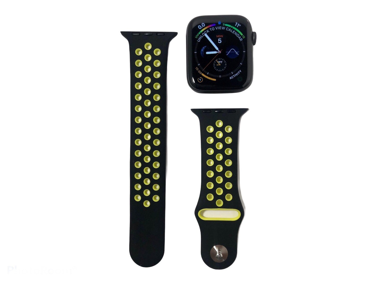 Apple Watch Silicone Band [Black/Lime]