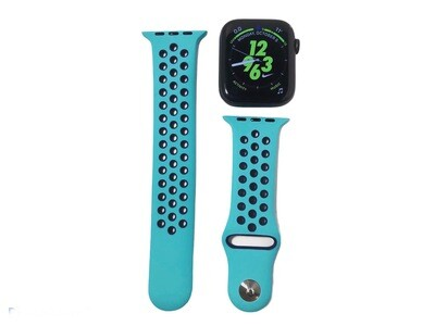 Apple Watch Silicone Band [Turquoise/Black]