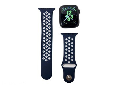 Apple Watch Silicone Band [Navy/White]