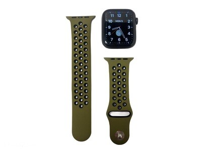 Apple Watch Silicone Band [Olive/Black]