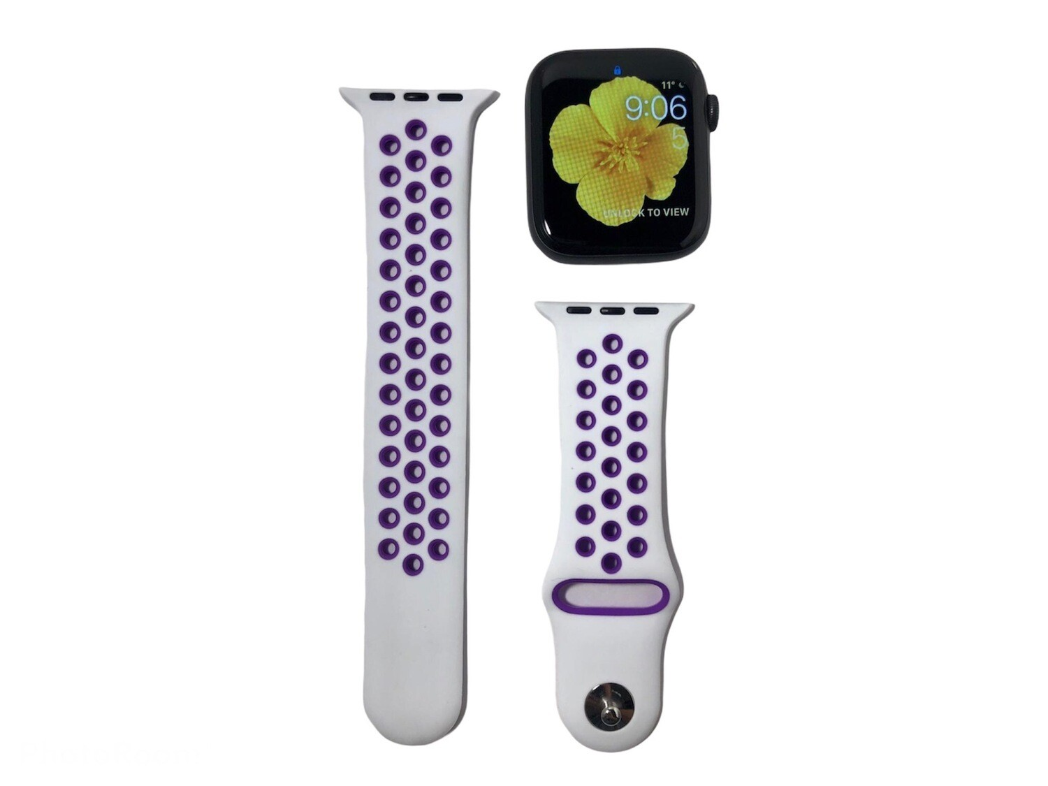 Apple Watch Silicone Band [White/Purple]