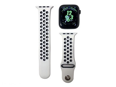 Apple Watch Silicone Band [White/Black]