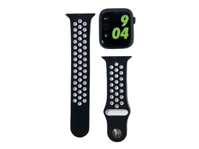 Apple Watch Silicone Band [Black/White]