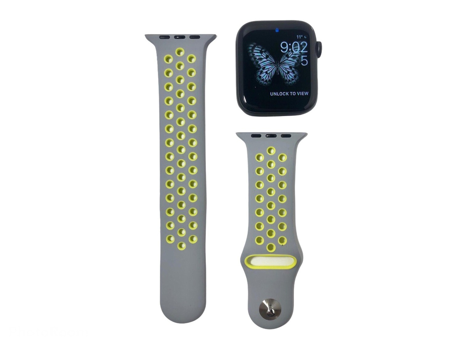 Apple Watch Silicone Band [Grey/Lime]