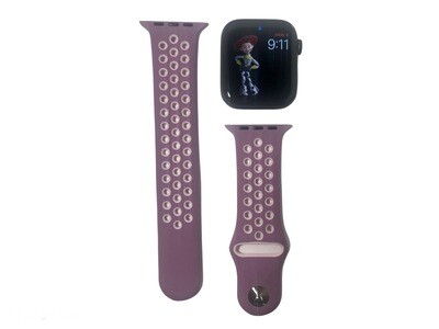 Apple Watch Silicone band [Purple/White]