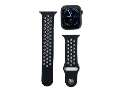 Apple Watch Silicone Band [Black/Grey]