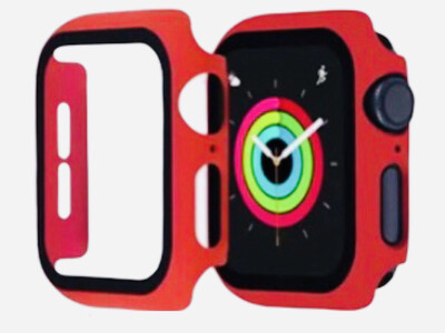 Apple Watch Hard Bumper Case with Built-in Screen Protector [Red]