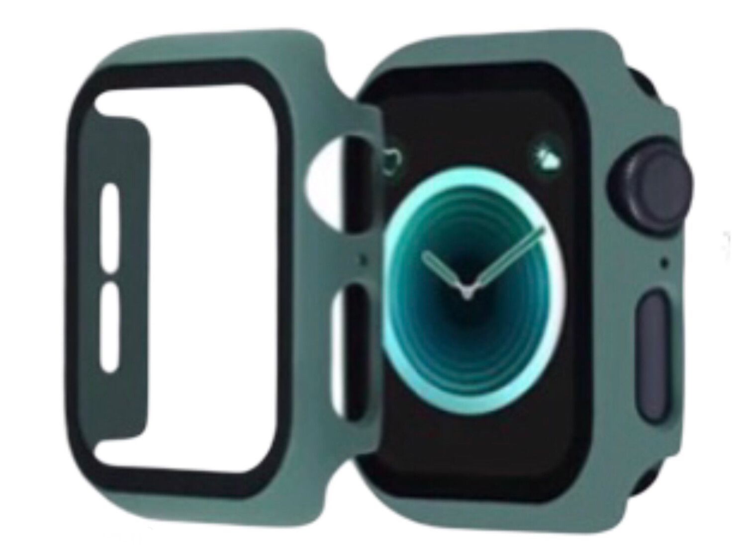 Apple Watch Hard Bumper Case with Built-in Screen Protector [Green]