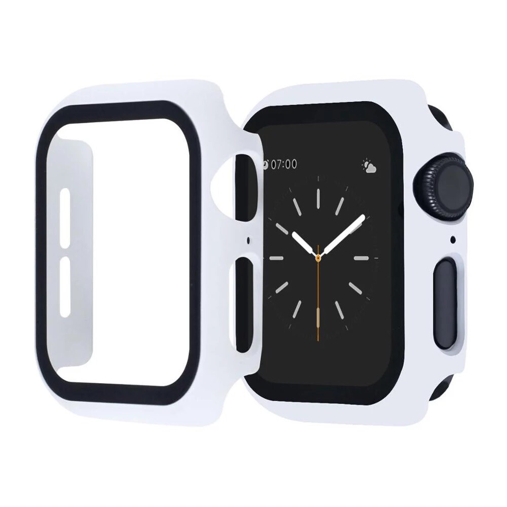 Apple Watch Hard Bumper Case with Built-in Screen Protector [White]