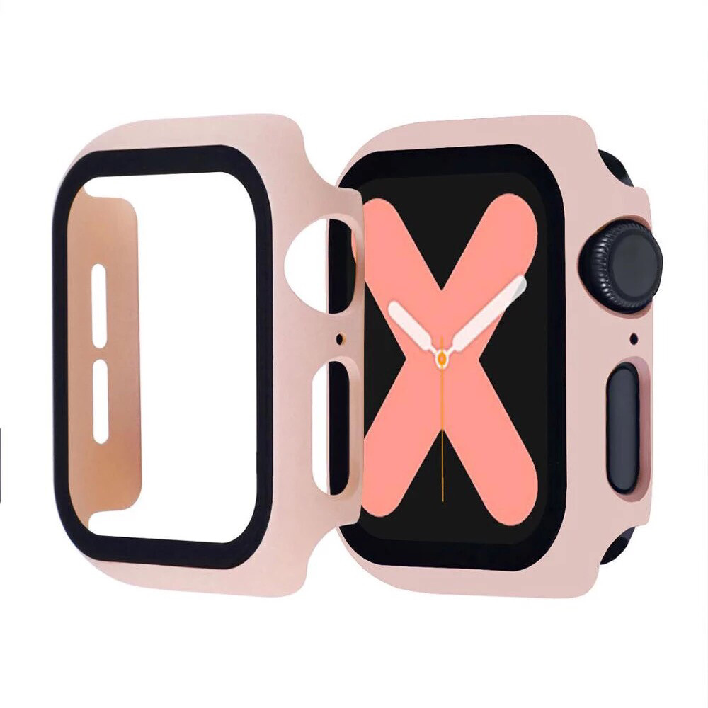 Apple Watch Hard Bumper Case with Built-in Screen Protector [Pink]