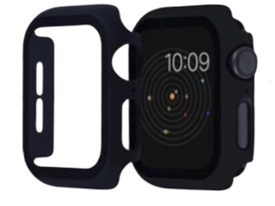 Apple Watch Hard Bumper Case with Built-in Screen Protector [Black]