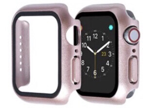Apple Watch Hard Bumper Case with Built-in Screen Protector [Rose Gold]