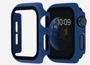 Apple Watch Hard Bumper Case with Built-in Screen Protector [Navy]