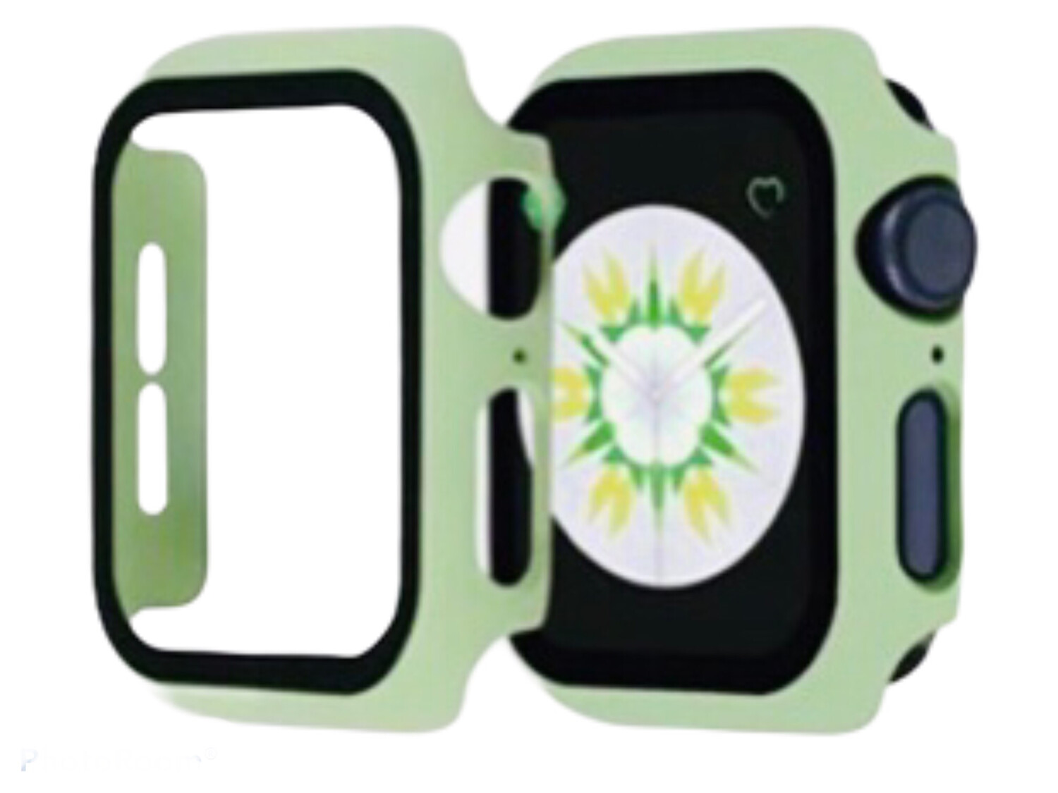 Apple Watch Hard Bumper Case with Built-in Screen Protector [light Green]