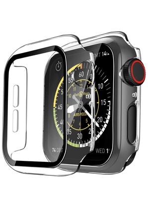 Apple Watch Hard Bumper Case with Built-in Screen Protector [Transparent]
