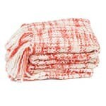Pomegranate-Marled Basketweave Plush Knit Throw
